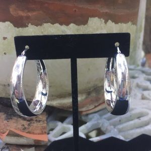 Italy Milor Sterling Silver Hoop Earrings